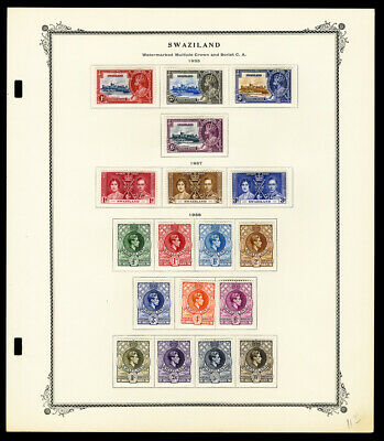 Swaziland Early 1900s Stamp Collection