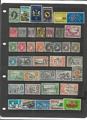 Old British Empire Nigeria King George V On-Wards All Different Used Collection