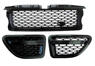 Range Rover sport Grille+side vent Autobiography style upgrade kit full black V8