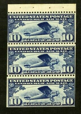 US Stamps # C10a 10c Air Mail FVF OG NH Fresh Pane