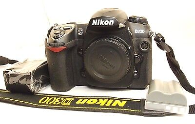 Nikon D200 10mp Digital SLR Camera solo Corpo Funziona (Issues- No Af