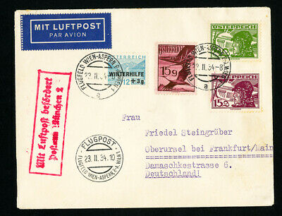 Austria Early Flight Cover Stamped 1937