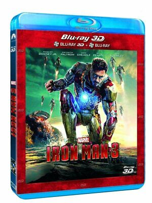 COMBO Blu Ray 3D + 2D Iron Man 3 (MARVEL, AVENGERS) COMME NEUF