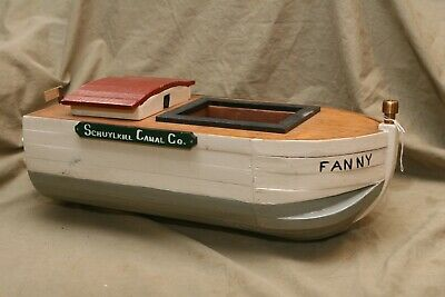 Vintage Folk Art Wood Schuylkill Canal Co Barge FANNY I Well Done Hand Made