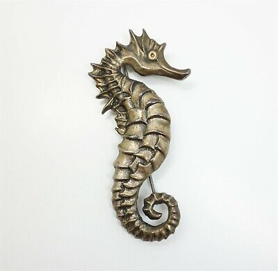 Vintage 1940s/50s Sterling Silver Seahorse Brooch