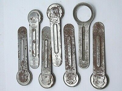 Vintage Antique Watchmakers watch repair tool Lot of 7 case back opener wrenches