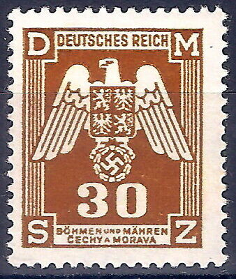 DR Nazi 3rd Reich Rare WW2 WWII Stamp Service Official Nazi Swastika Eagle Stamp