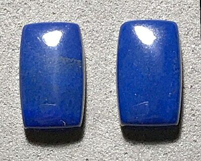 (pls c video)  BEAUTIFUL BRIGHT blue matching pair AFGHAN LAPIS LAZULI CABS