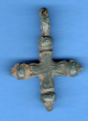 Russia Kiev type Bronze Cross Pendant Viking time 10-12th ca 1100 AD RARE 168