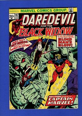 Daredevil #107 Nm- 9.2 High Grade Bronze Age Marvel Thanos Appearance