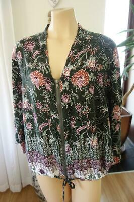 Free Post ** Label of Love Boho Gypsy Zip Front Top S/M