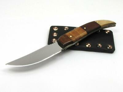 Unique Custom Made Bird Trout Knife/Sheath made from Old Parts & New Materials.
