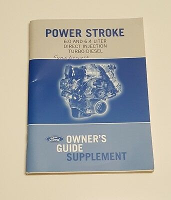2006 Ford Truck 6.0L Turbo Diesel Engine Owners Manual Supplement User Guide