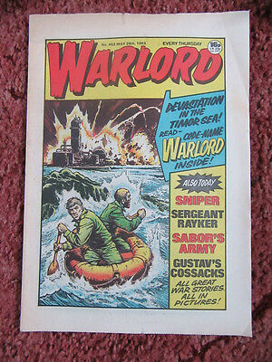 Warlord Comic 28  May 1983. N0. 453. Unsold Newsagents Stock. Unread. Vfn+