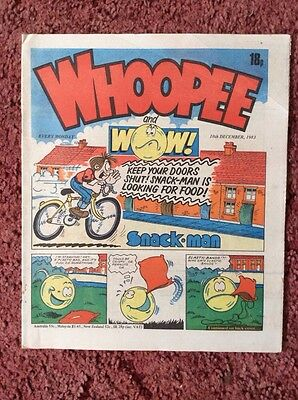 Whoopee And Wow Comic 10 December 1983. Unsold Newsagent Stock. Unread. V/fn+