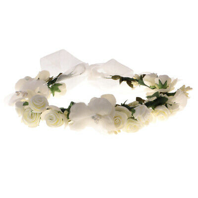 Boho Girl Floral Crown Flower Headband Hair Garland Wedding Bridal Headpiece