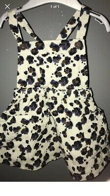 Mamas And Papas Baby Girl Leopard Print Pinafore Dress. 6-9 Months. Immaculate