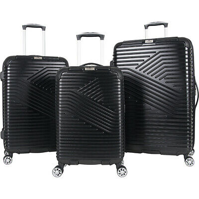 Ben Sherman Luggage Bangor 3 Piece Hardside Spinner Luggage Set NEW