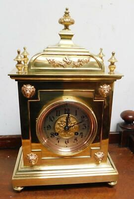 french brass cased bracket clock c1900s
