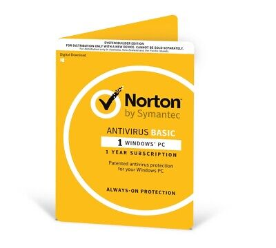 SYMANTEC Antivirus 2018 , 1 User, 1 Device, 12 Months, PC Only, OEM