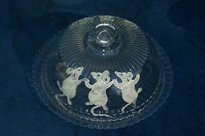 rare cloche a fromage art deco decor emaillé six souris