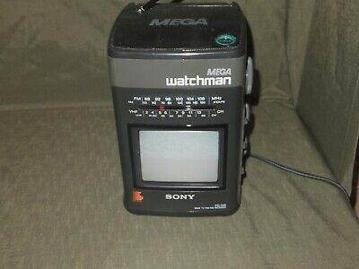 SONY Mega Watchman FD 510 AM/FM TV Receiver VTG 1990s Tested