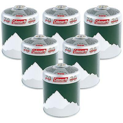Coleman Extra Value 6 x C500 Gas Cartridge - Green, Pack of 6