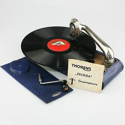 Swiss THORENS Excelda Portable Gramophone /Phonograph Record Player - (YZ15)