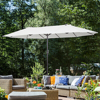 Outsunny 4.6m Double-Sided Sun Umbrella Patio Parasol Shelter Canopy Shade