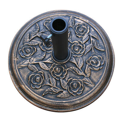 12KG Parasol Base Weights Garden Umbrella Round Stand Holder Patio Heavy Duty