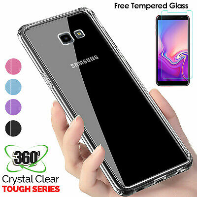 Case 360 Cover For Samsung Galaxy J3 J4 J6 Plus Tempered Glass Screen Protector