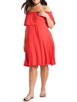 Size 12 Ex Marks and Spencer Half Sleeve Jersey Bardot swing Dress