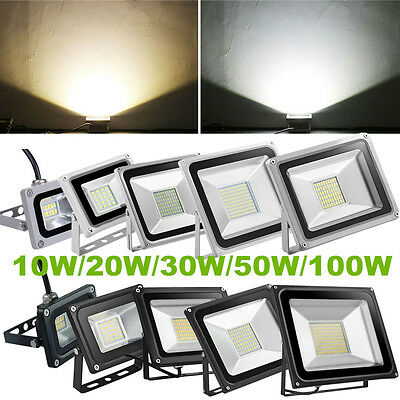 10W 20W 30W 50W 100W  LED Flood Light Spot Lamp Outdoor Garden Landscape Yard