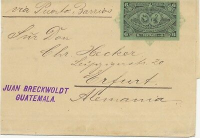 GUATEMALA 1897 Central American Exhibition VFU 6 Cent. postal stationery wrapper