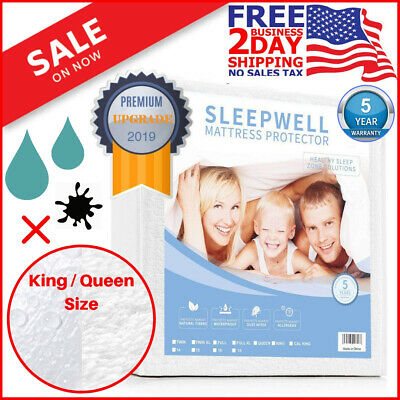 Mattress Cover Protector King Size Waterproof Pad Bed Cover Hypoallergenic Sheet