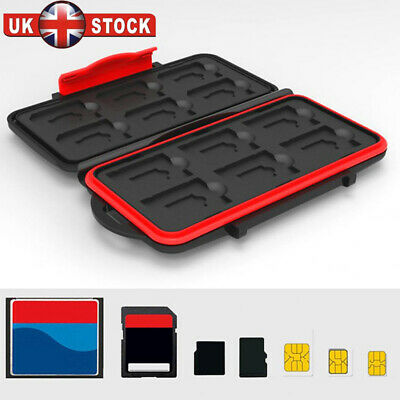 SD Memory Professional Card Waterproof Protection Wallet Holder Carrying Case Y