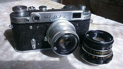 Soviet Camera Fed 2 with Lens INDUSTAR-26m Red P and Industar 61L/D made in USSR