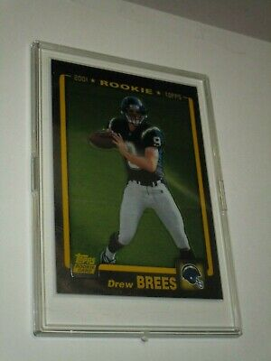 2001 Topps Chrome Drew Brees Rookie Card Rc 328 New Orleans