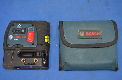 Bosch Gpl 5, 5 Point Self Leveling Alignment Laser Great Condition Used