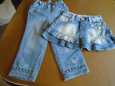 baby denim skirt and trews 18 months to 2year