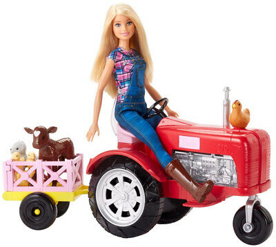 Barbie Farmer Doll and Tractor Playset Kid Toy Gift