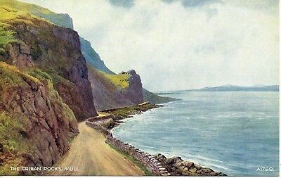 The Criban Rocks, Mull* Water Colour By Edward Thompson * Lovely View * B27