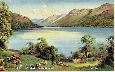 Loch Uisc, Lochbuie, Mull * Water Colour By Edward Thompson * Lovely View *b14