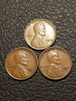 1929 P D S Lincoln Wheat Penny AU Mixed Lot Better Date Cents