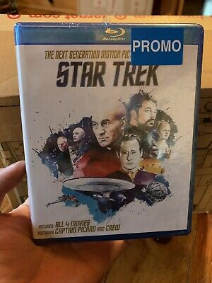 Star Trek: Next Generation Motion Picture Collection (Blu-ray, 2016; 4-Disc Set)