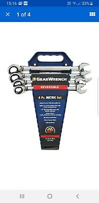 Gearwrench 4 Piece Reversible Ratcheting Wrench Set Metric 21 - 25mm 9601N