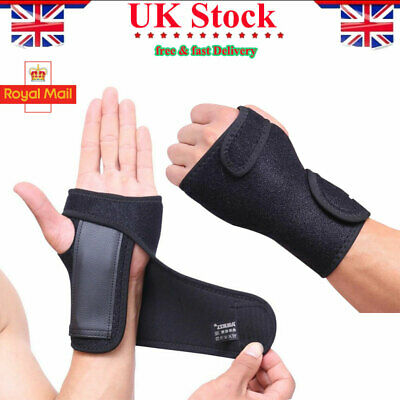 Breathable Carpel Tunnel Hand Wrist Support Strap Splint Brace Protection Relief