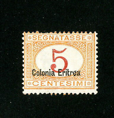 Eritrea Stamps # J1b Fresh OG LH Scott Value $550.00