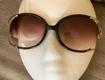 4715b35560cd VINTAGE FENDI SUNGLASSES FS 176 Satin Golden Beauty 125 Tortoise Vtg ...