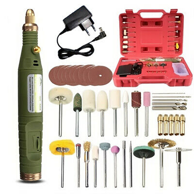 DC 18V Handy Mini Electric Grinder Drill Engraver Rotary Tools Kit Adjustable Sp